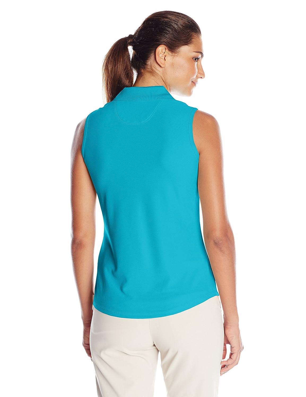 Greg Norman Womens Protek Micro Pique Sleeveless Polo