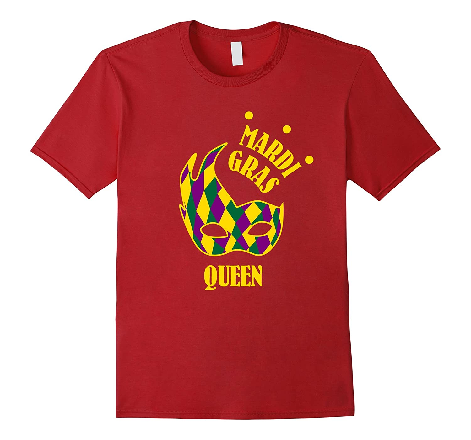 Mardi Gras Queen Shirt Funny Mask Celebration Party Gift-TD