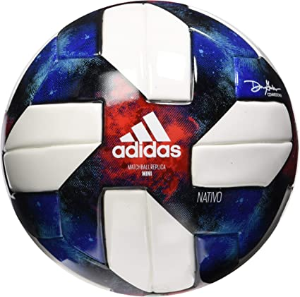 adidas MLS - Pelota de fútbol, color blanco, negro, azul y rojo ...