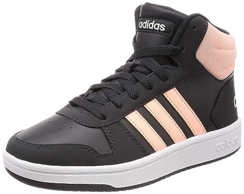 brand new 74a00 ff1f7 Adidas Hoops Mid 2.0, Scarpe da Basket Unisex-Bambini, Grigio (Carbon