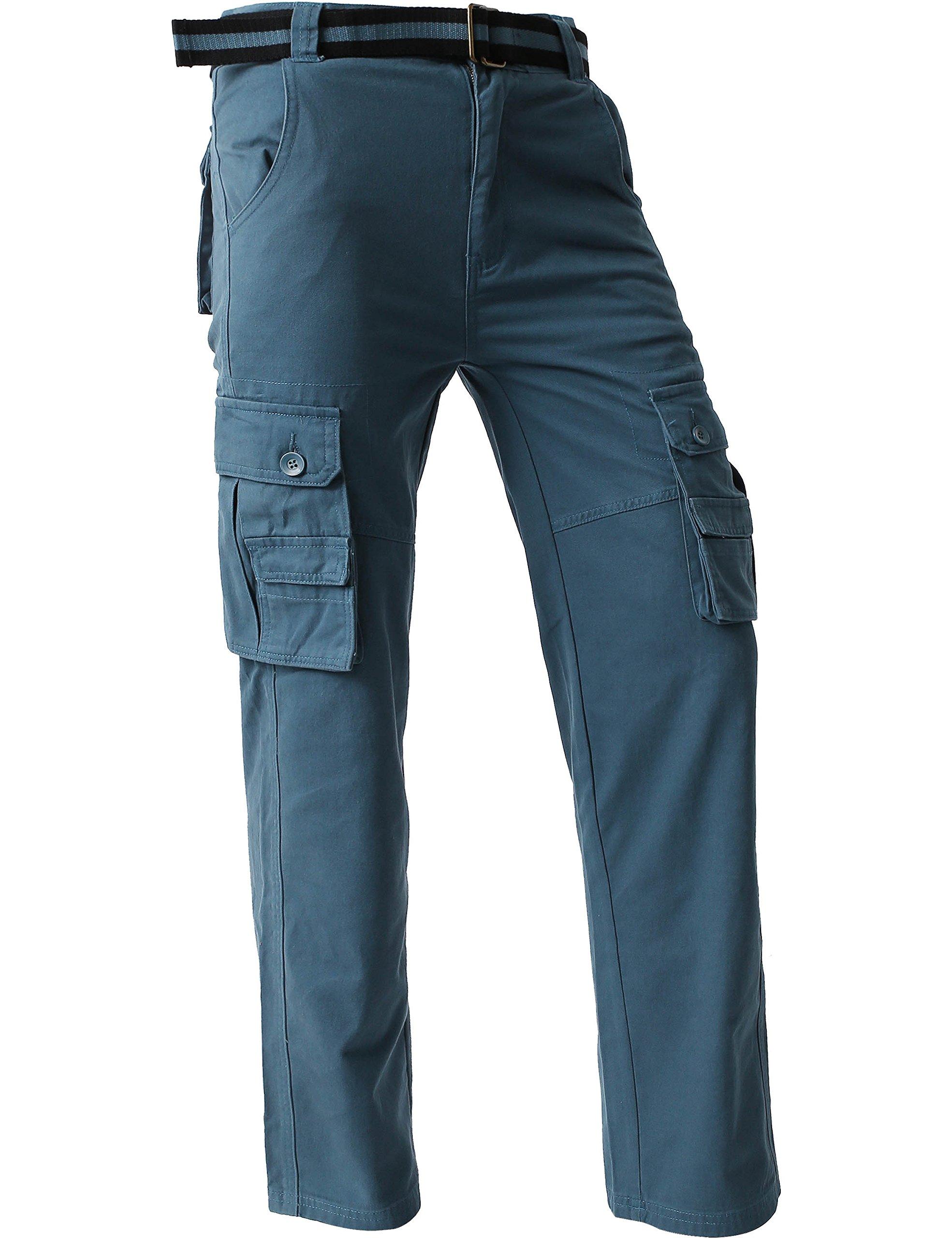 Ma Croix JP Mens Cargo Pants with Utility Belt (40/ pj01_dkblue) by Ma Croix (Image #4)