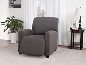Madison Grey Jersey Stretch Large Recliner Slipcover
