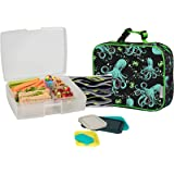 Bentology Lunch Bag and Box Set for Kids - Boys Insulated Lunchbox Tote, Bento Box, 5 Containers and Ice Pack - 9 Pieces…