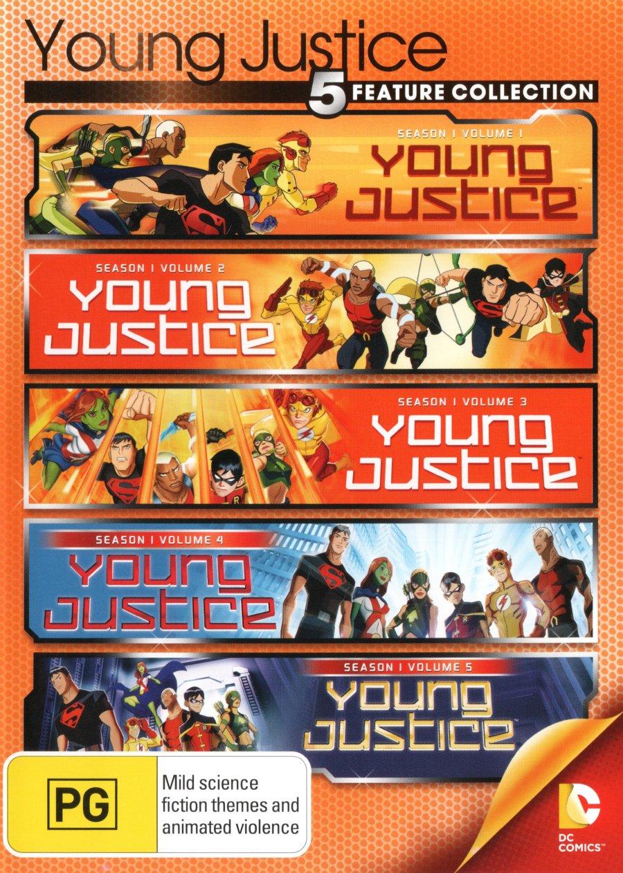 Amazon com: Young Justice Season 1 Volumes 1-5 | 5 Discs