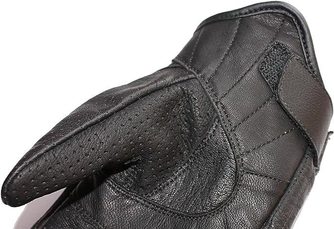 Lederhandschuhe Biker Chopper Handschuhe NEU Leichte Leder Motorradhandschuhe