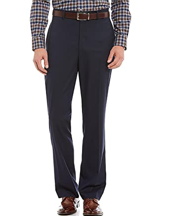 5106f3b8e271 Cremieux Daniel Signature Flat-Front Classic-Fit Dress Pants Navy at ...