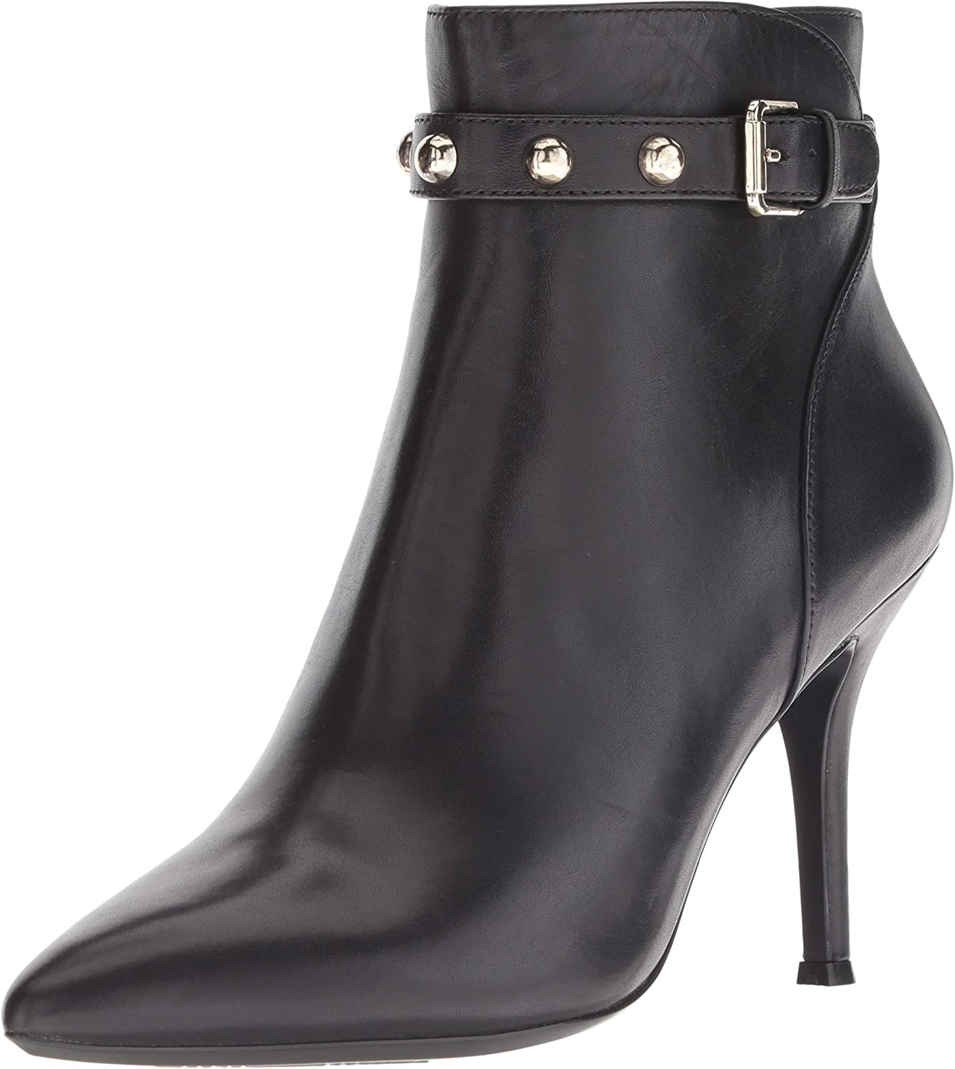 NINE WEST Womens Fatrina Leather Ankle Boot
