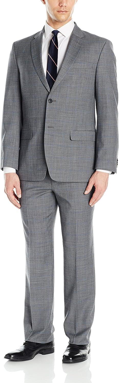 Tommy Hilfiger Mens Two Button Slim Fit Window Suit