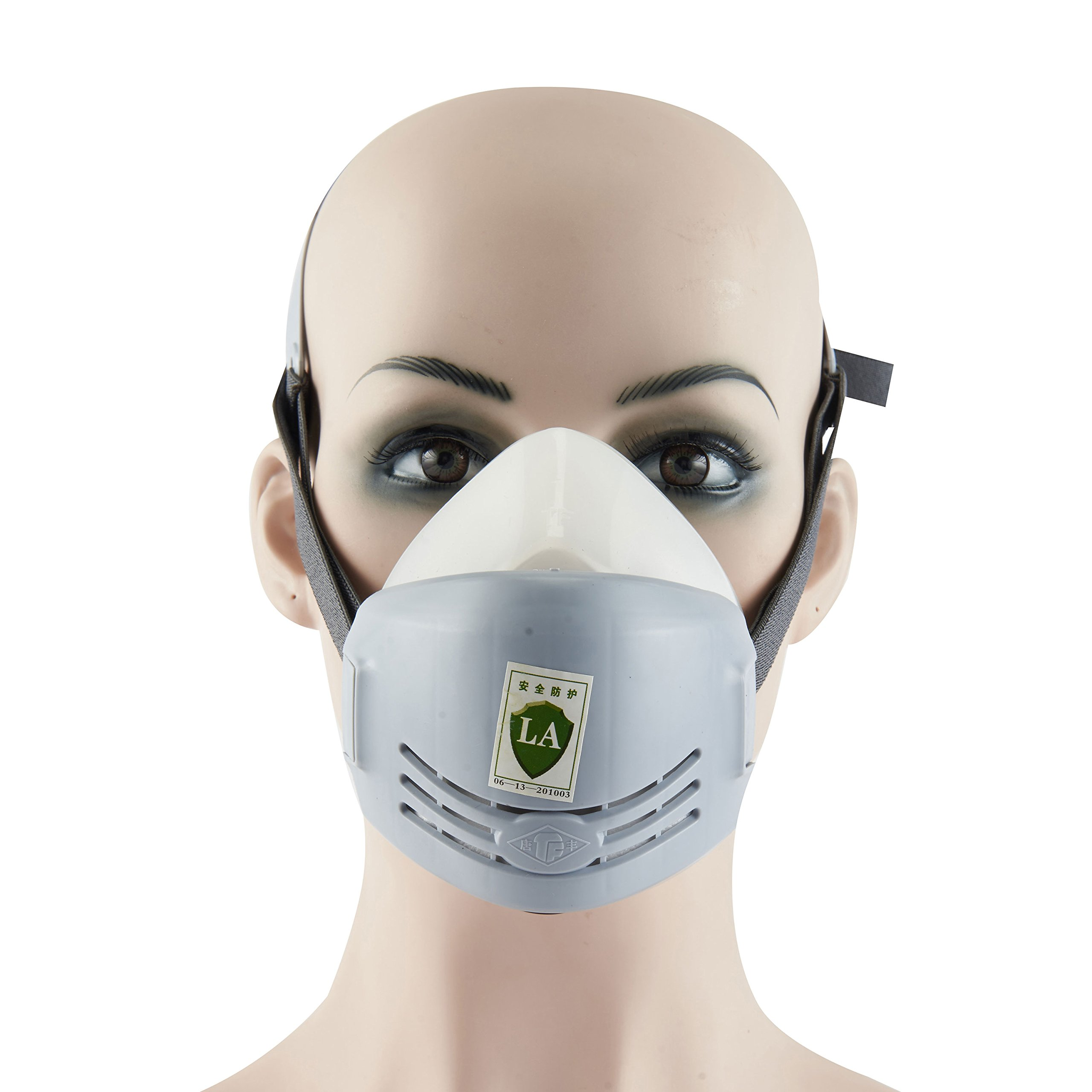 Joyutoy Respirator Dust Mask KN90 Pm2.5 Half Facepiece Reusable Respirator Gas Protection Filter Respirator (White)