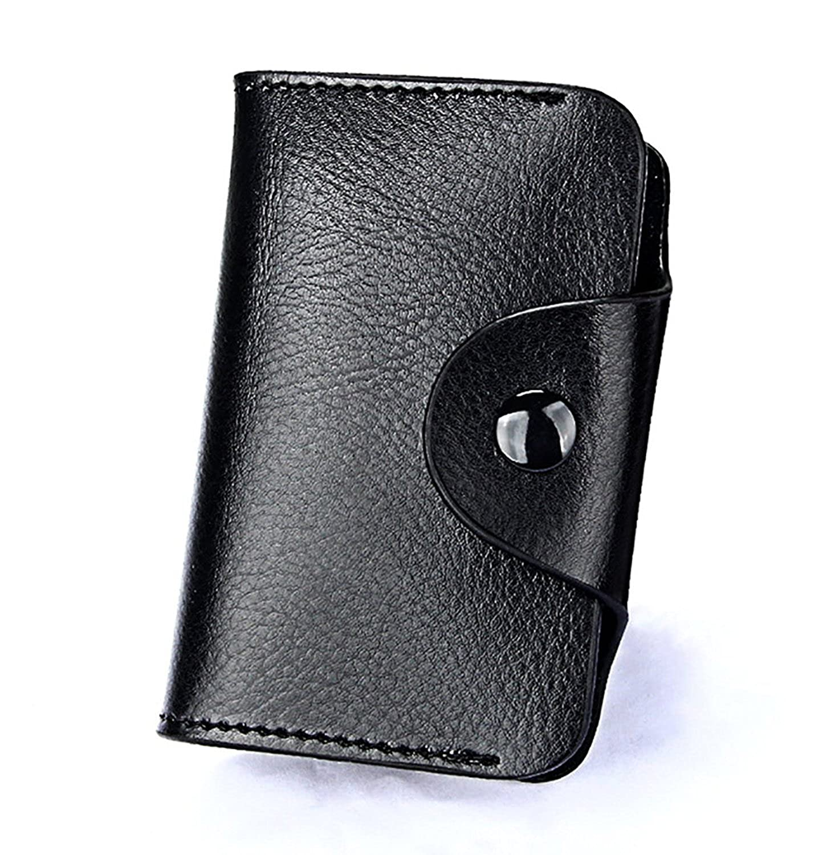 Amazon.com: Titular de la tarjeta de crédito de Piel ...