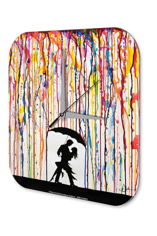 Amazon.de: Wanduhr Retro Tanz Paar Regen Acryl Wand Deko Uhr Vintage