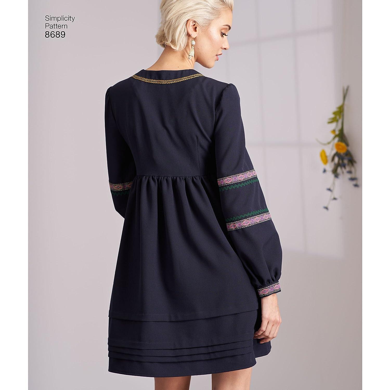 Simplicity Creative Patterns US8689R5 Pattern 8689 Misses Dresses