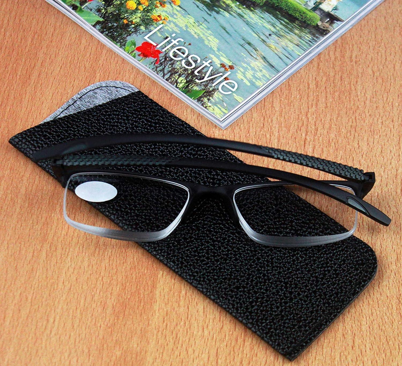 Gafas de Hombre y Mujer Unisex con Montura de Pasta Pack de 5 Gafas de Lectura Vista Cansada Presbicia +1.0 Ver de Cerca Bisagras Standard Para Leer 801