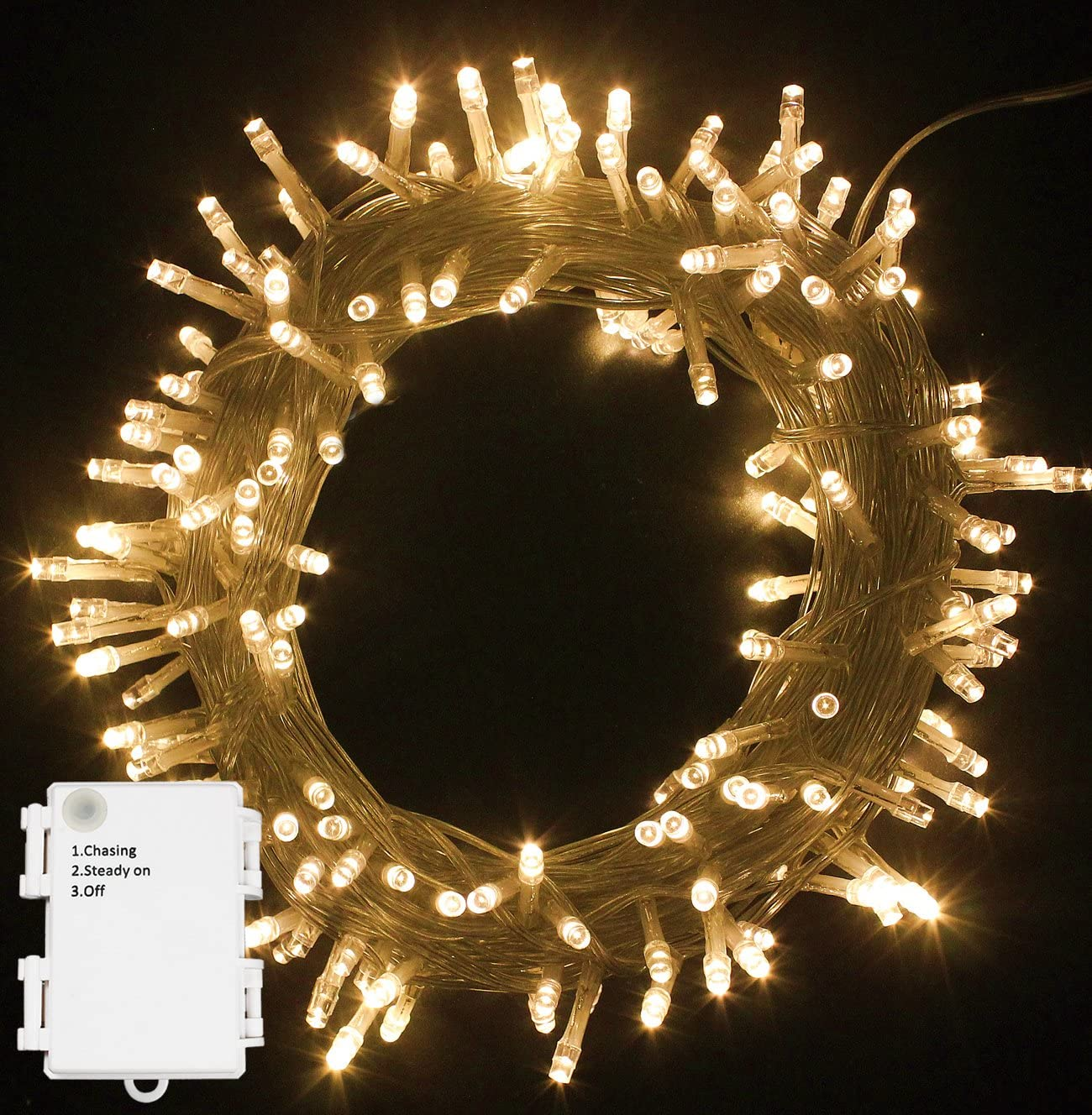 5M 400 LED Bright Cluster Timer String Fairy Lights 8 Effect Waterproof Garden