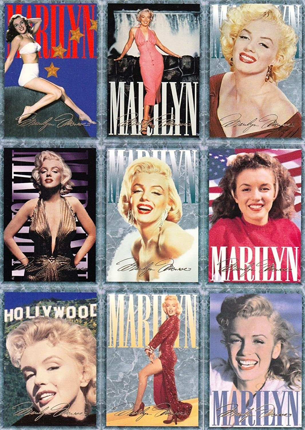 MARILYN MONROE SERIES 1 1993 SPORTS TIME COMPLETE BASE CARD SET OF 100