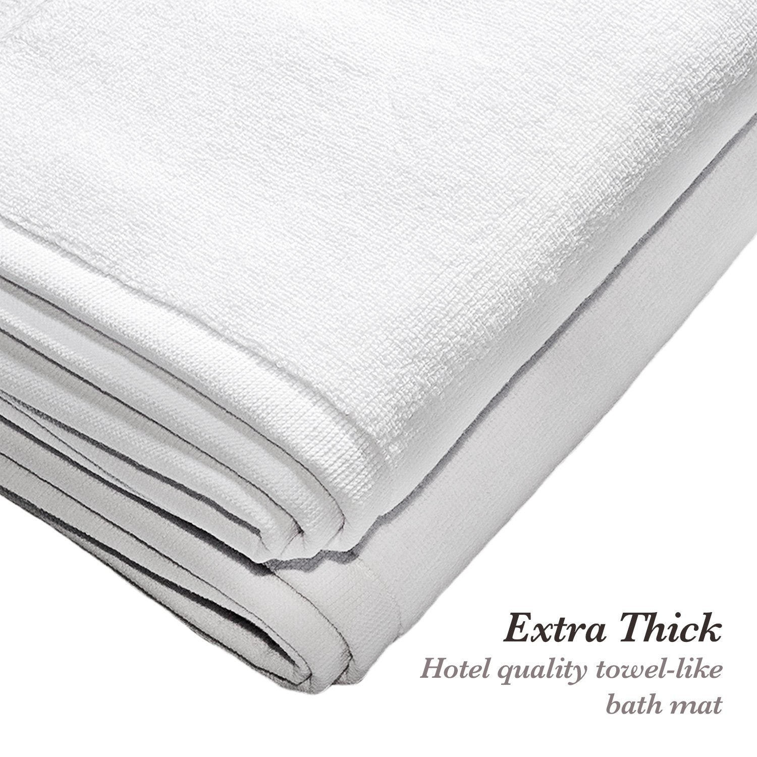 Amazon Over the Floor 2 Piece Extra Thick Cotton Bathroom Mat