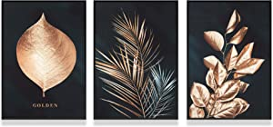 FELIMAI Gold Wall Art,Gold Wall Decor, Gold Home Decor, Suitable for Living Room, Bedroom, Kitchen Decoration(8x10 inch Unframed Canvas Wall Art 3-Set).