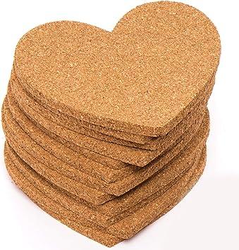 Baker Ross Pack ahorro de posavasos de corcho con forma de corazón (Paquete de 30) Manualidades para niños para el Día de la Madre y San Valentín: Amazon.es: Juguetes y juegos