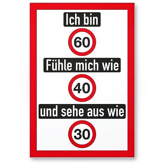 DankeDir!. Ich Bin 60 años (con Placa Amable), de plástico ...
