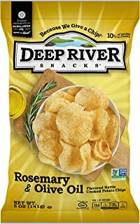 product image for Deep River Snacks Rosemary & Olive Oil Kettle Cooked Potato Chips, 5-Ounce (Pack of 12)