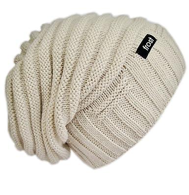 Frost Hats Slouchy Winter Hat Warm Chunky Knit Beanie M2013-60 Beige ... 87dec19641f