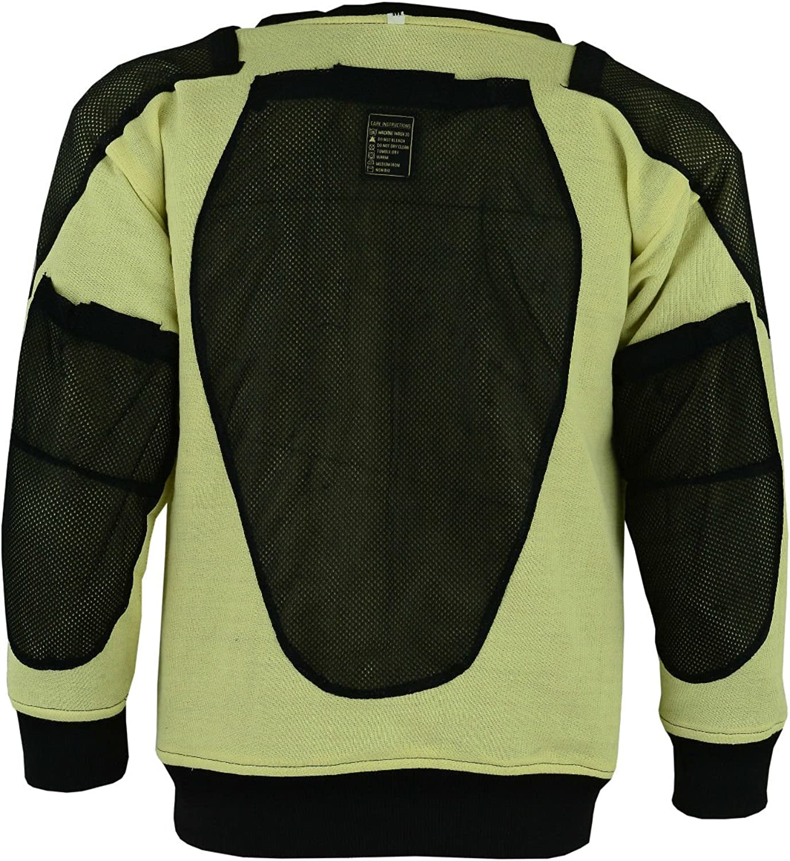 Motorcycle Armoured Hoody Casual Fully Kevlar Lined Fleece Hoodie Protection