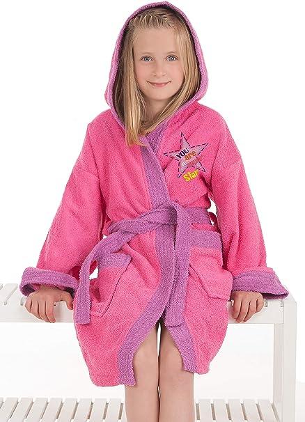 Secaneta Albornoz Infantil Chica, Algodón 100% Modelo Star, para ...