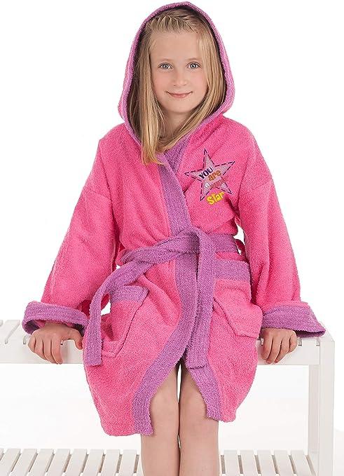 Secaneta Albornoz Infantil Chica, Algodón 100% Modelo Star, para Niña de 10 a 12 Años, Multicolor: Amazon.es: Hogar