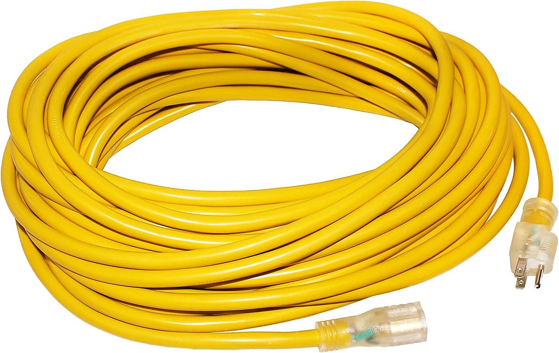 LifeSupplyUSA 16//3 6ft SJT 13 Amp 125 Volt 1625 Watt Lighted End Indoor//Outdoor Heavy Duty Extension Cord 6 Feet