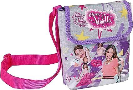 Business Square Disney Violetta - Bolso Bandolera para niña (17 x 17 x 5 cm): Amazon.es: Deportes y aire libre