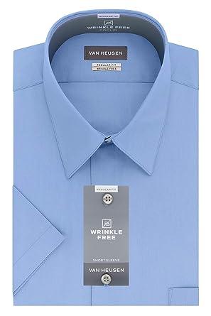 8effcd5cba3 Van Heusen Men s Short Sleeve Poplin Solid Dress Shirt at Amazon ...