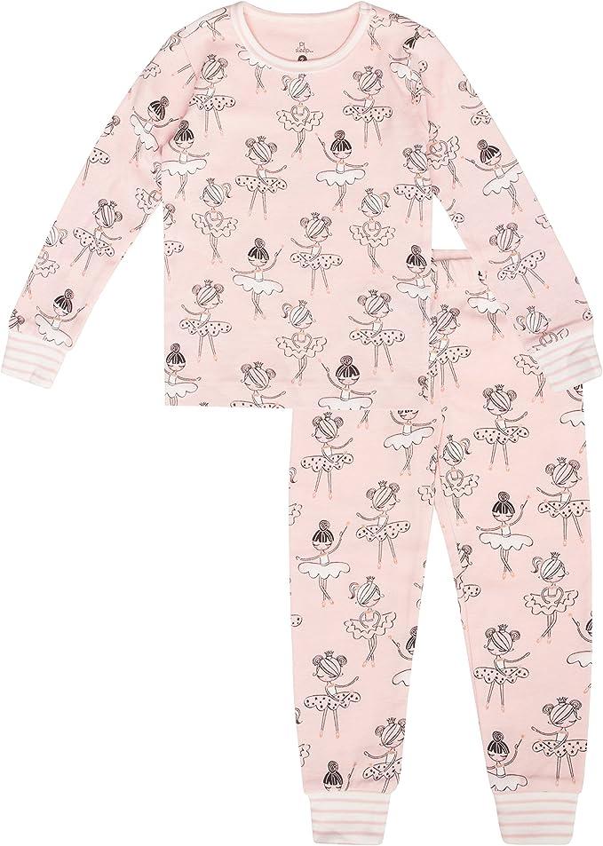 Cute and Cozy Softness Comfortable Petit Lem Girls Little 2-Piece Pajama Set