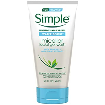 Simple facial wash gel