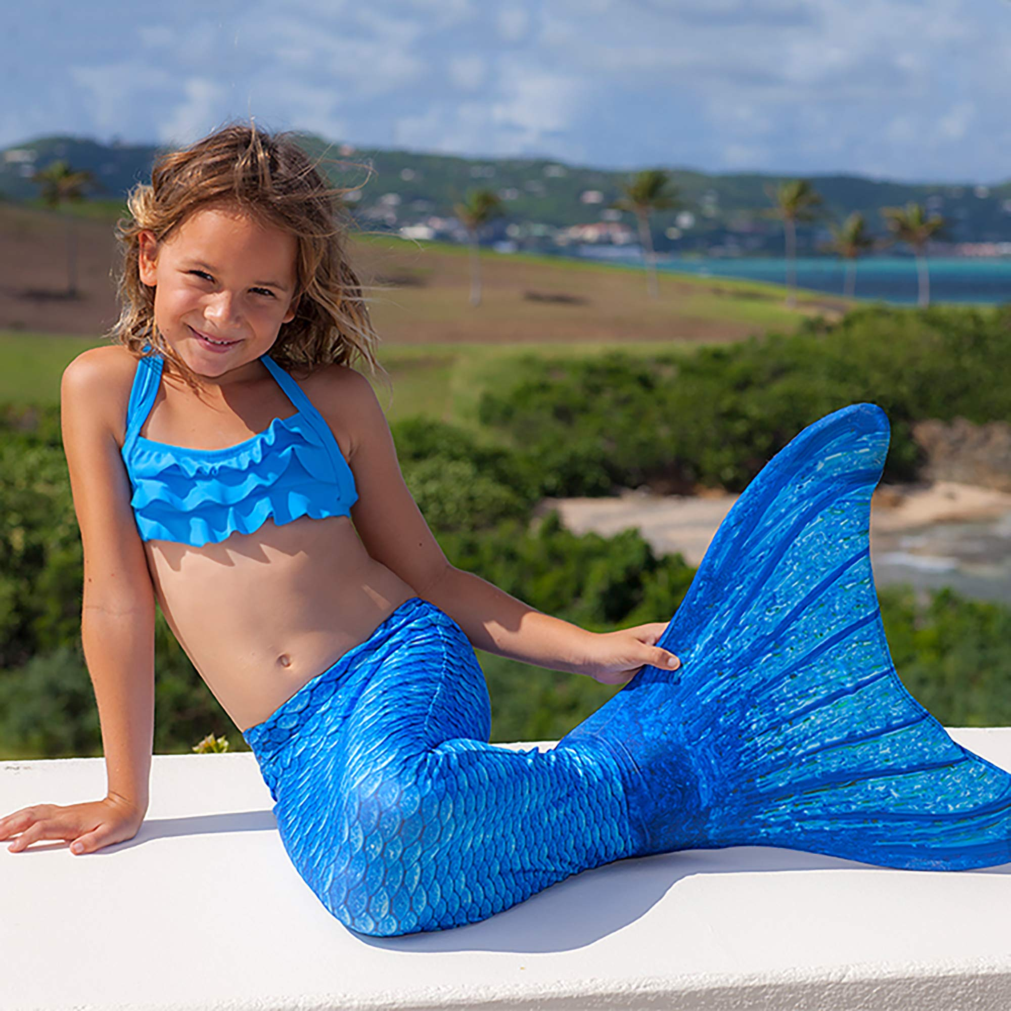 Fin Fun Mermaid Tail Only, Reinforced Tips, NO Monofin, Asian Magenta, Size Child 10 by Fin Fun (Image #7)