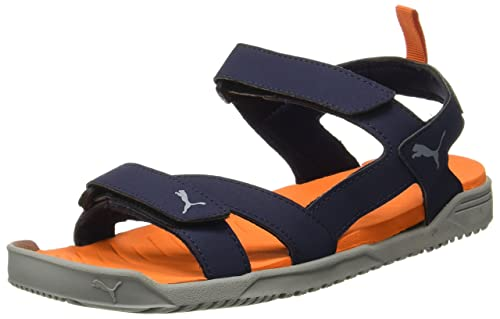 4fddd6ffa087 Puma Men s Prime Idp Black and Dark Shadow Athletic   Outdoor Sandals - 7  UK