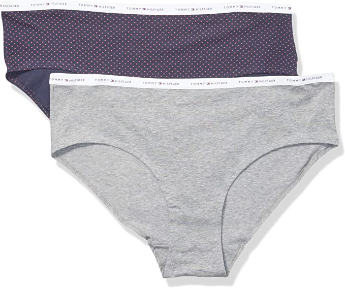 Tommy Hilfiger Womens Cotton Hipster Underwear Panty,Tmyflgdthg//Nvbz,XL