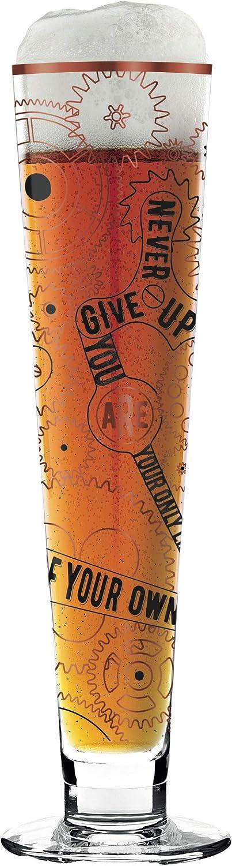 300 ml RITZENHOFF Black Label Bierglas von Burkhard Neie mit f/ünf Bierdeckeln aus Kristallglas