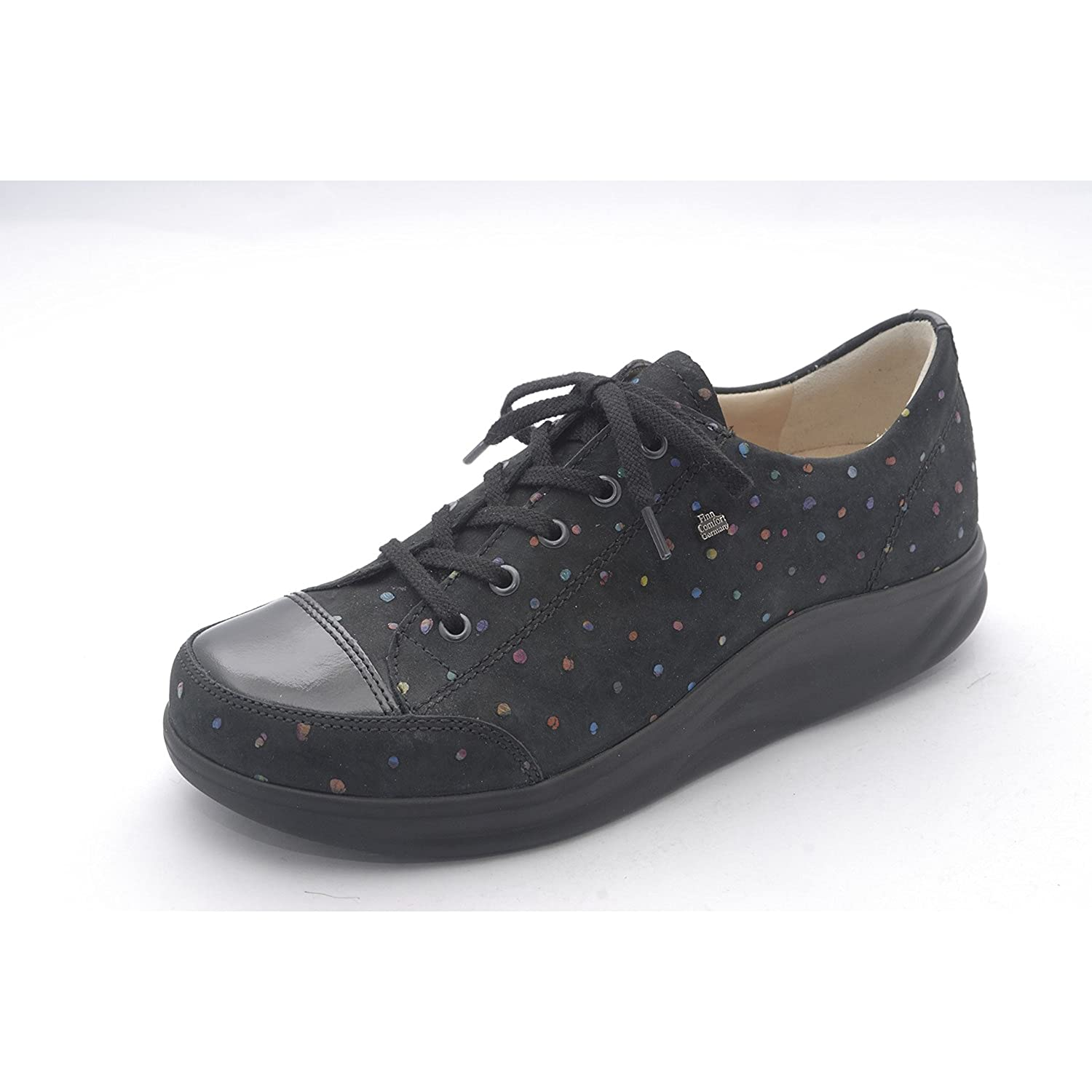 Finn Comfort Women's Ikebukuro Oxford B014MHJZP2 7 (4.5 UK Women's) Medium|Black Multi Dots