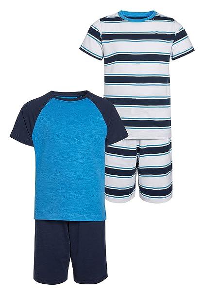 next Niños Pack De Dos Pijamas Cortos Deportivos (3-16 Años) Azul 16 años: Amazon.es: Ropa y accesorios