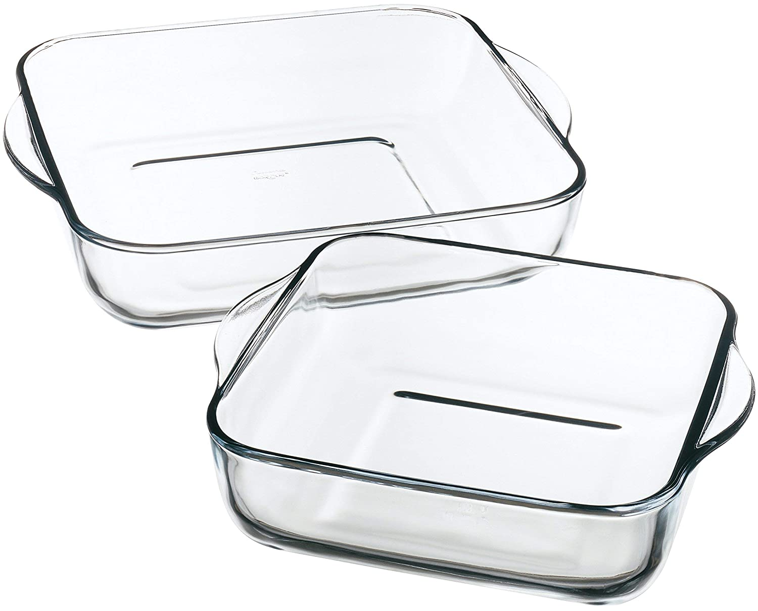 Amazon.com: Borcam 1690037 Care Baking Dishes Set of 2 Clear Glass ...