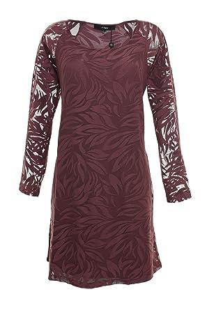 X Two Kleid Banks Tunika Minikleid Damen Lagenlook Viskose Farbe