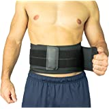 Vive Lower Back Brace - Support for Chronic Pain, Sciatica, Spasms, Nerve and Herniated or Slipped Disc - Adjustable Lumbar Wrap for Pain Management and Relief