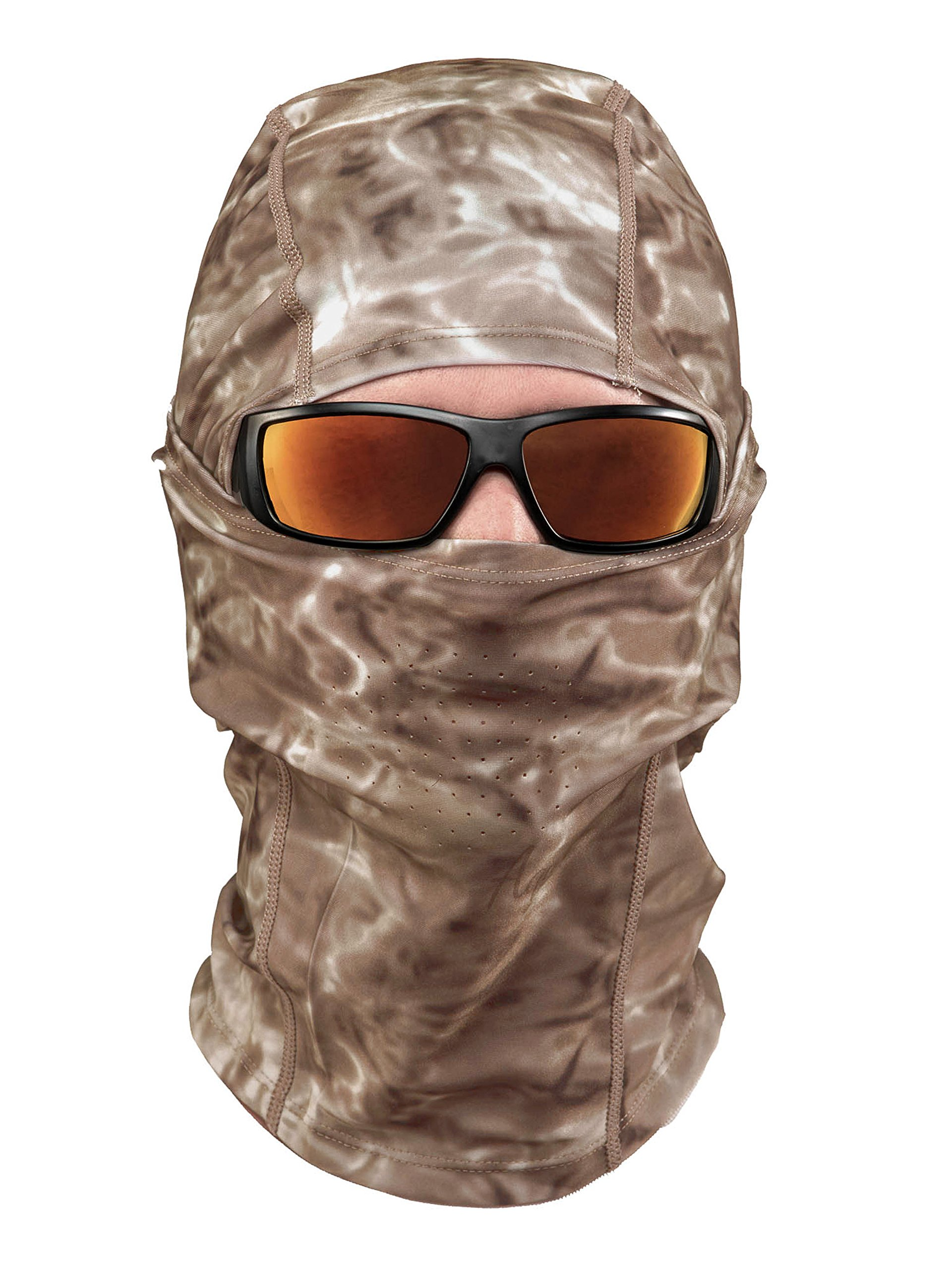 Aqua Design: Cool Weather Mens Face Mask UPF50+ Sun Wind Helmet Liner Balaclava: Pacific Sand by Aqua Design (Image #2)