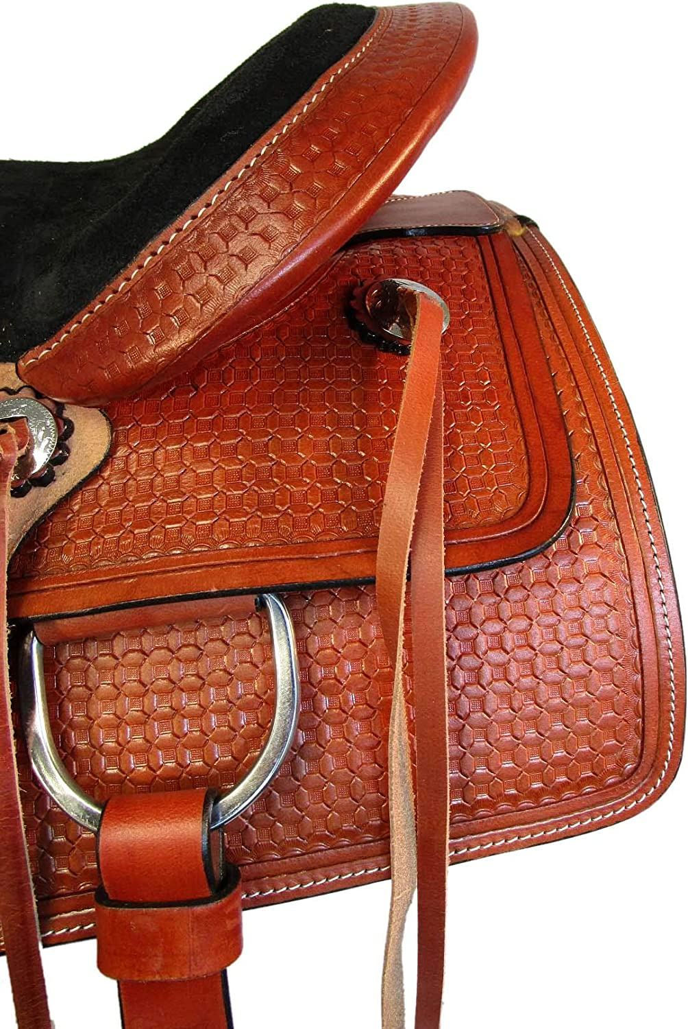 PRO Western 15 16 17 Pleasure Trail Ranch Rancher Roping Roper Horse Leather Saddle