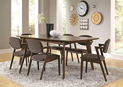 Amazon.com - Coaster Malone Mid-century Casual Dining Room Set with ...