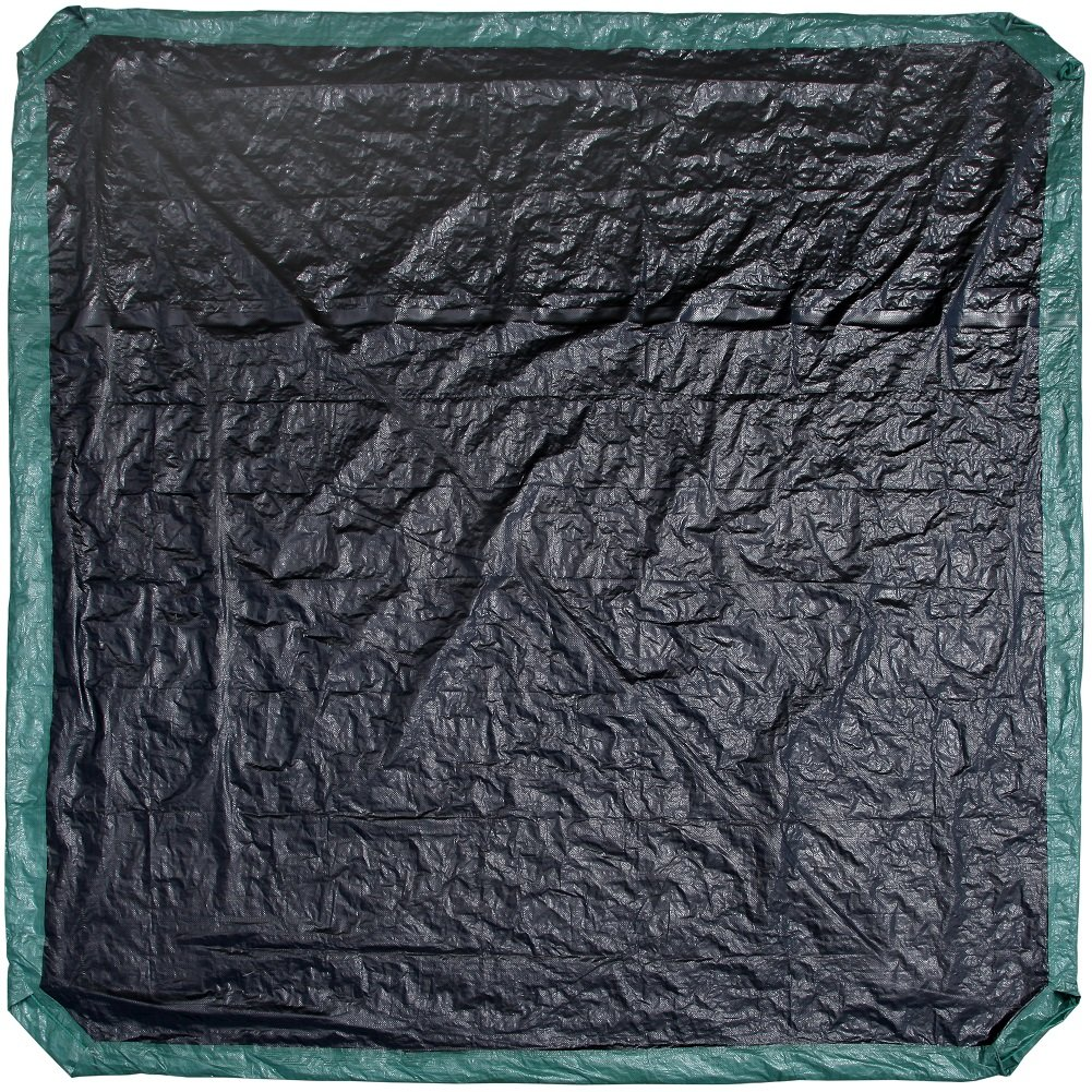 Shefko 0-99393-10909-4 Yard Tarp 8.2 X 8.2 - Versatile Drawstring Tarp for Yard Clean Ups - Convenient and Handy - Formed Into an Instant Dragging Bag - Ideal as BBQ Grill and Outdoors Furniture Cover by Shefko (Image #3)