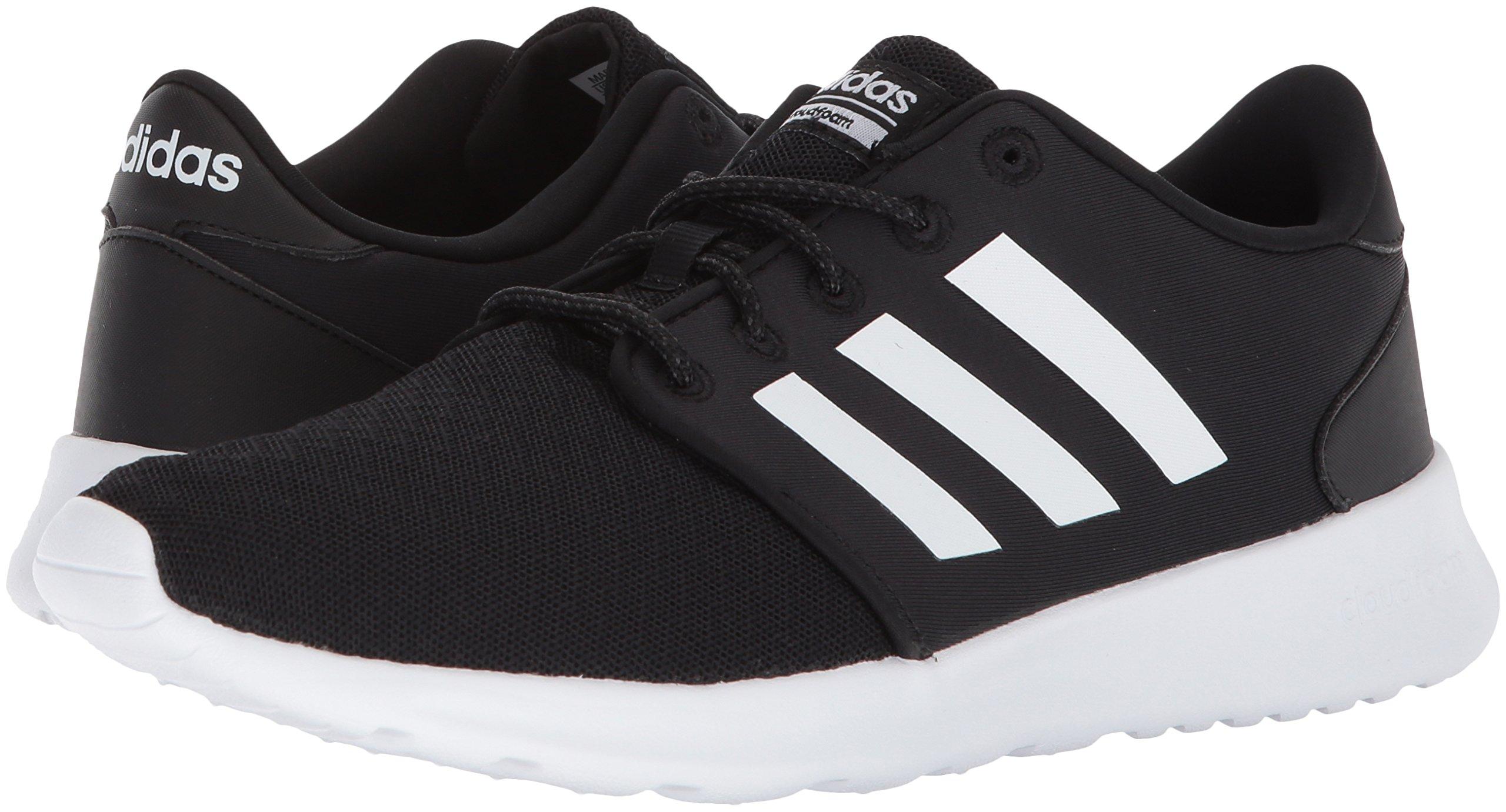 adidas Women's Cloudfoam QT Racer Running Shoe, Black/White/Carbon, 5 M US by adidas (Image #6)