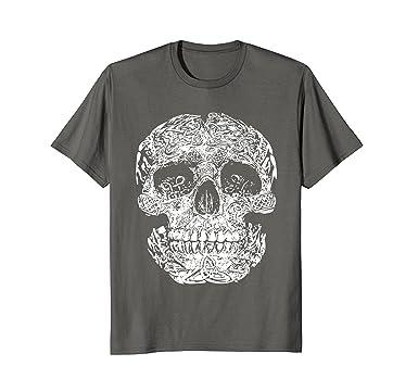 Amazon Celtic Symbol Shirt Carved Skull Magical Irish Welsh