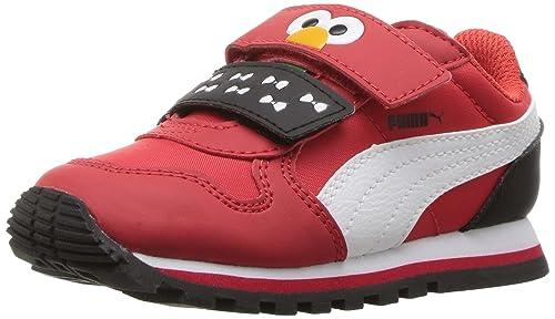 fc3ee7959e0eaf PUMA Kids  Sesame Str ST Runner Elmo Hoc V Inf Sneaker