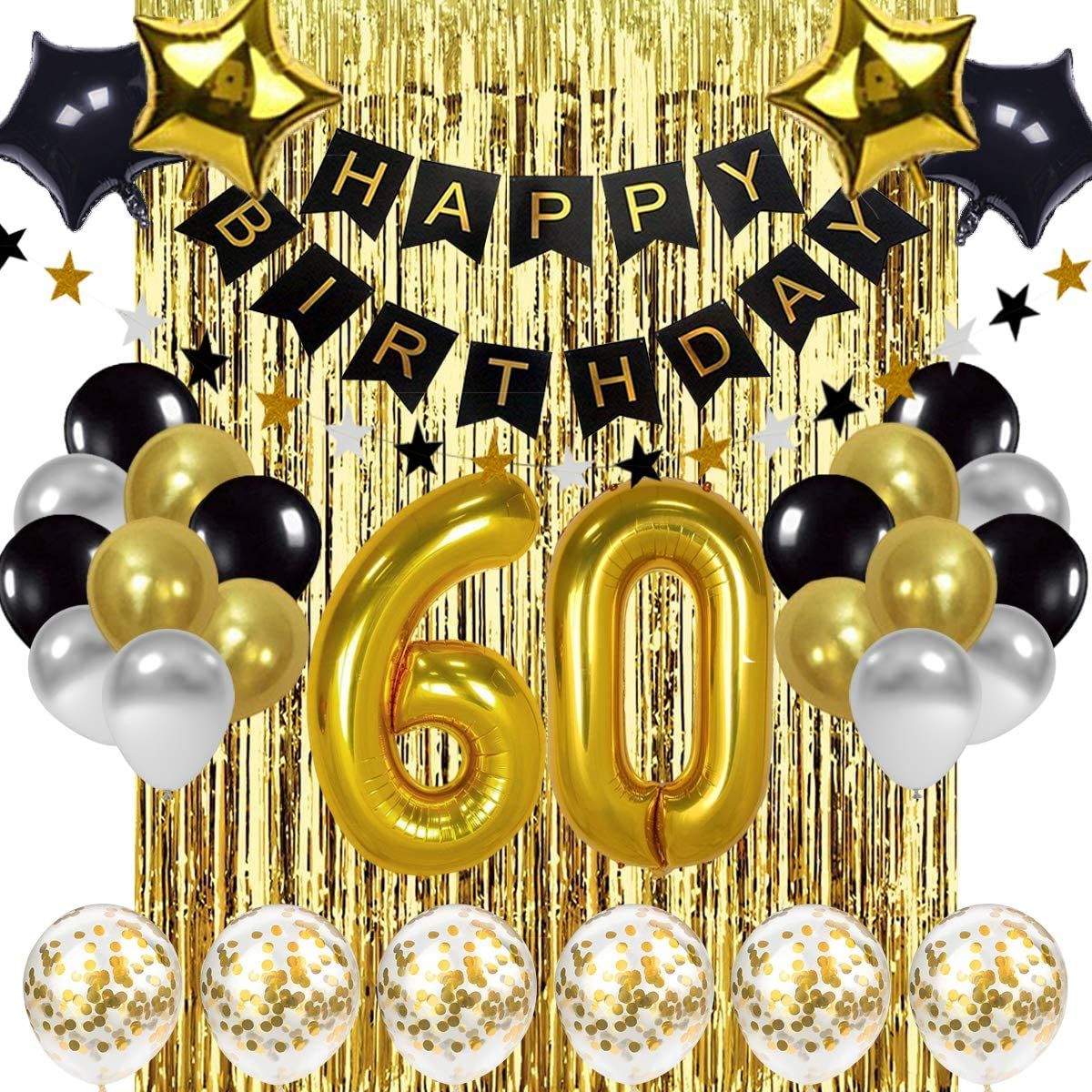 60th Birthday Balloon 32in 3d Sparkling Celebration Party City